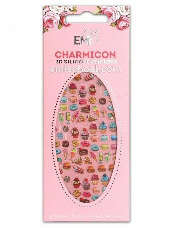 Charmicon 3D Silicone Stickers #81 Cupcakes