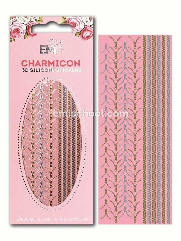 Charmicon 3D Silicone Stickers #1 Lock Mix, Gold/Silver