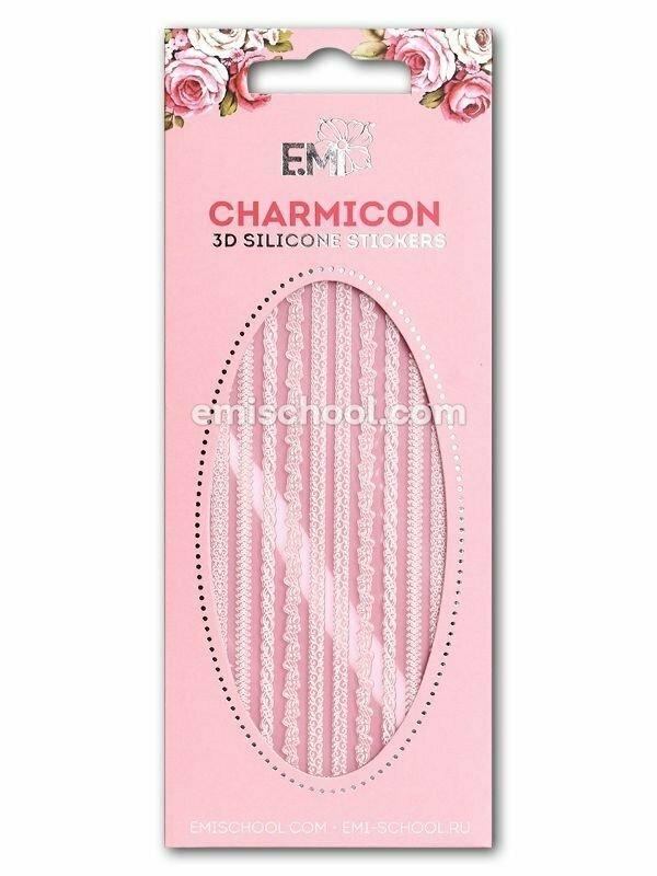 Charmicon 3D Silicone Stickers Ornament Mix #2, White