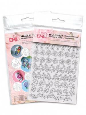 Nailcrust Pattern Slider #37 Flowers Mix #2