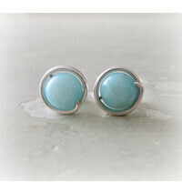 For the dreamer: Amazonite stud earrings