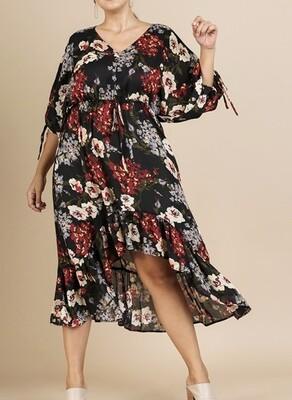 Floral, Hi Lo Maxi Dress
