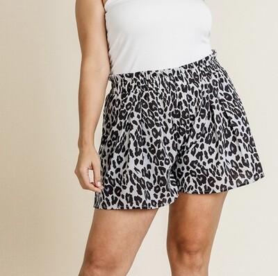 Animal Print High Waist Shorts