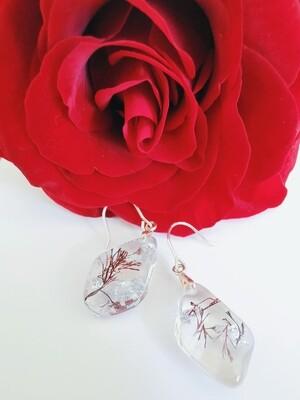 Seaweed and Silverleaf Earrings