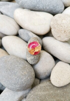 Gold Leaf and Bougainvillea Ring