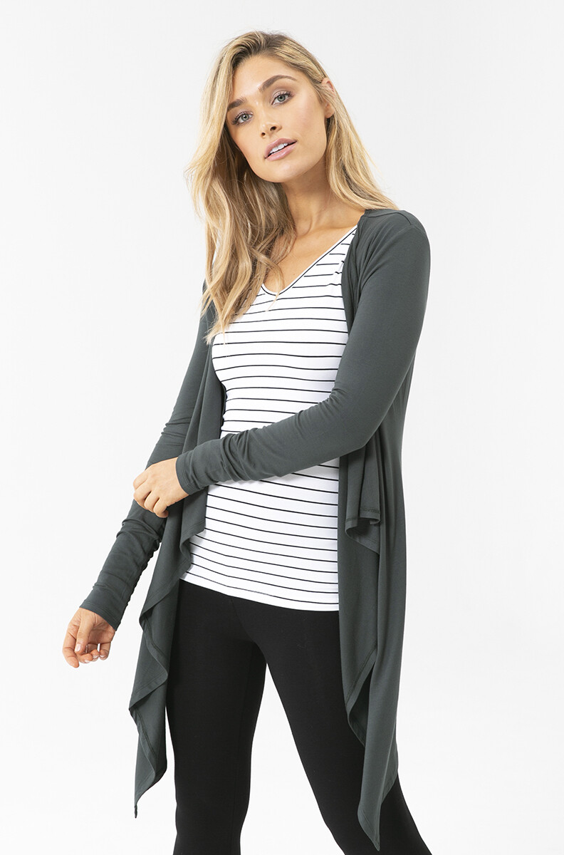Waterfall Cardigan - Forest
