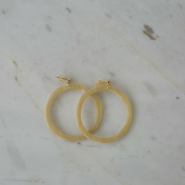 Hoop Stud Earrings - Blondie