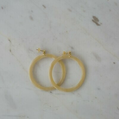 Hoop Stud Earrings - Blondie