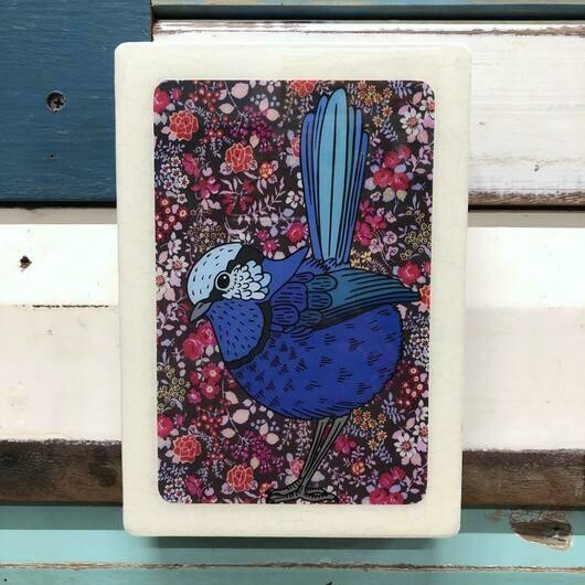 Medi Woodblock - Fairy Wren