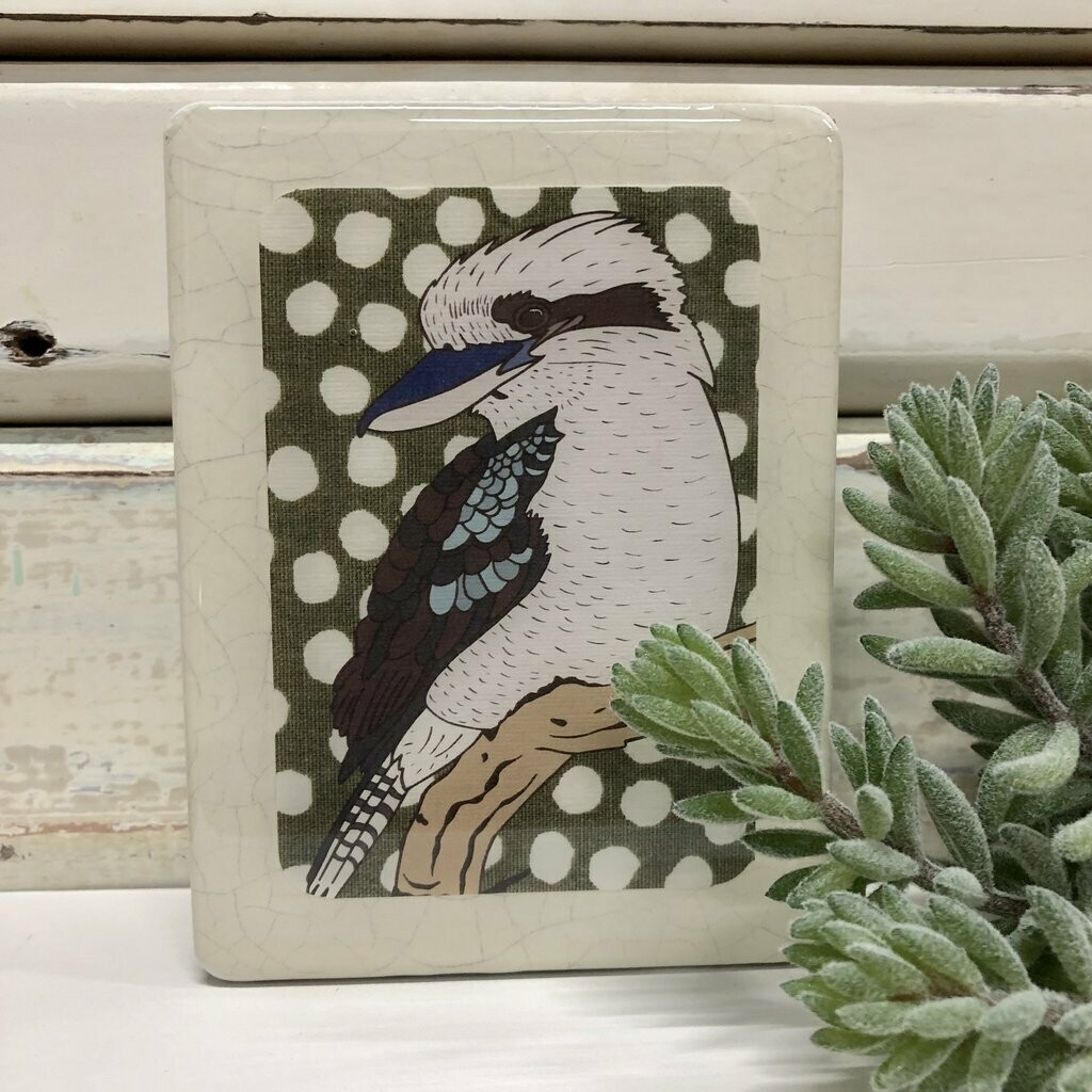Mini Woodblock - Kookaburra