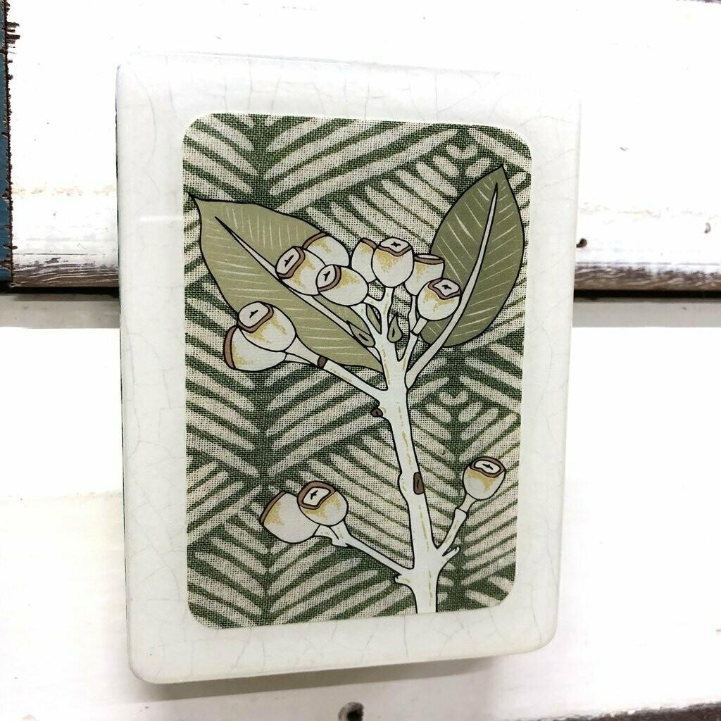 Mini Woodblock - Gum Nuts