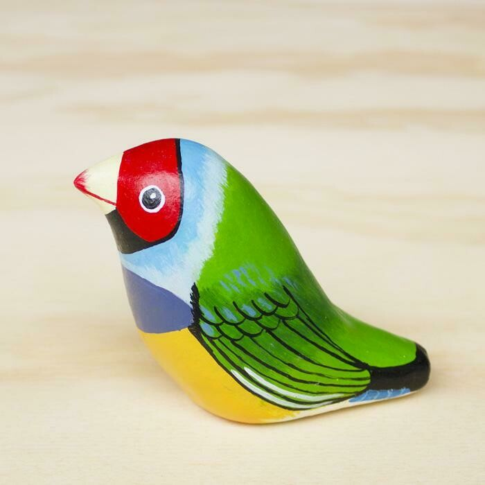 Paperweight Whistle - Gouldian Finch