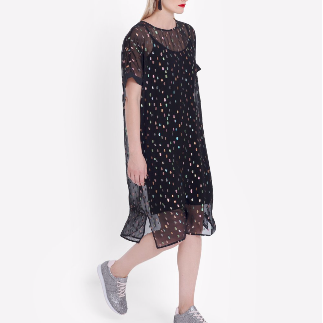 Bovrup Dress - Black/Multi