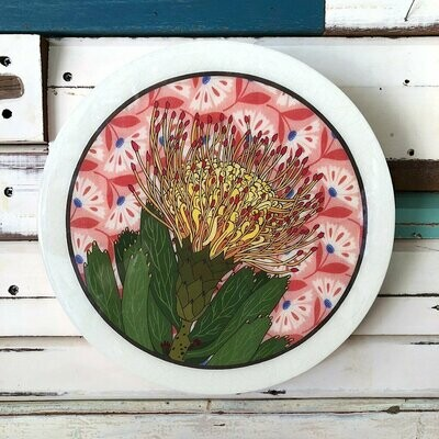 Roundy Woodblock - Pin Cushion Protea
