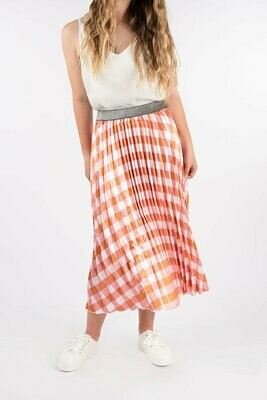 Pleated Skirt - Pink Toffee - One Size