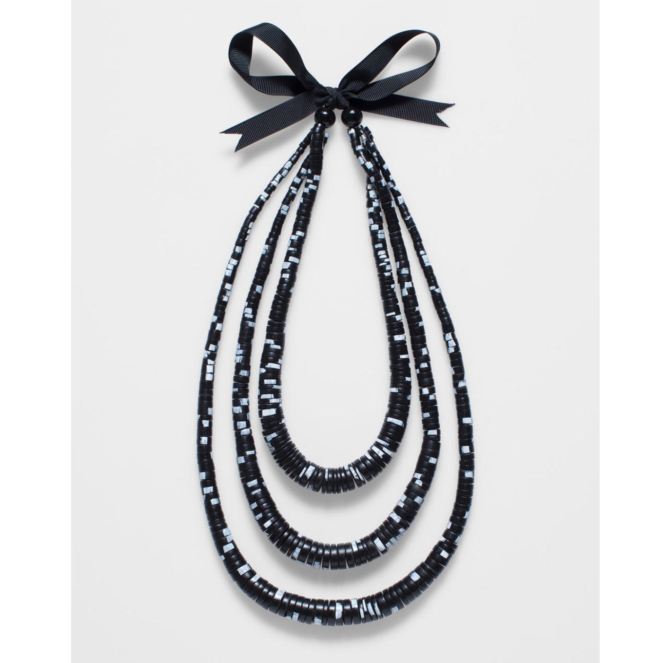 Janne Necklace - Black/white