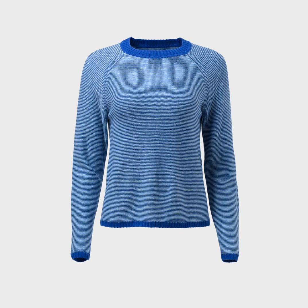 Cora Sweater - Demin / White