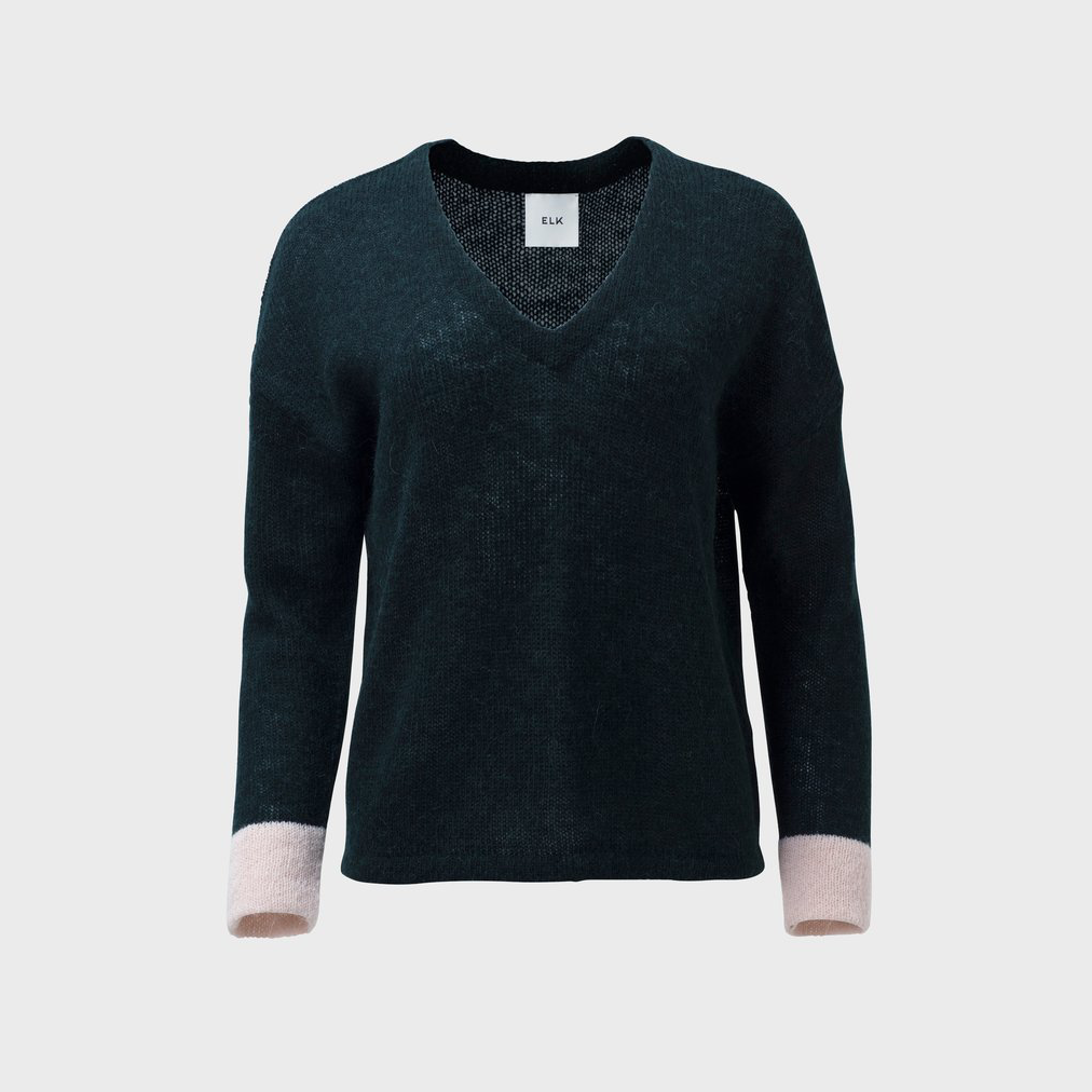 Edele Knit Sweater - Seaweed/Blush
