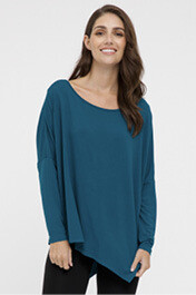 Relaxed Boatneck Top - Dark Teal