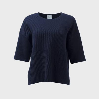 Glenna Knit Sweater - Navy