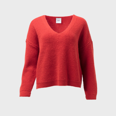 Hennie Knit Sweater - Spicy Orange