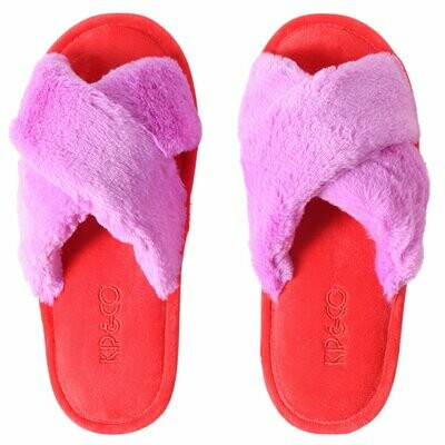 Adult Slippers - Raspberry Bubble - Size 35/36