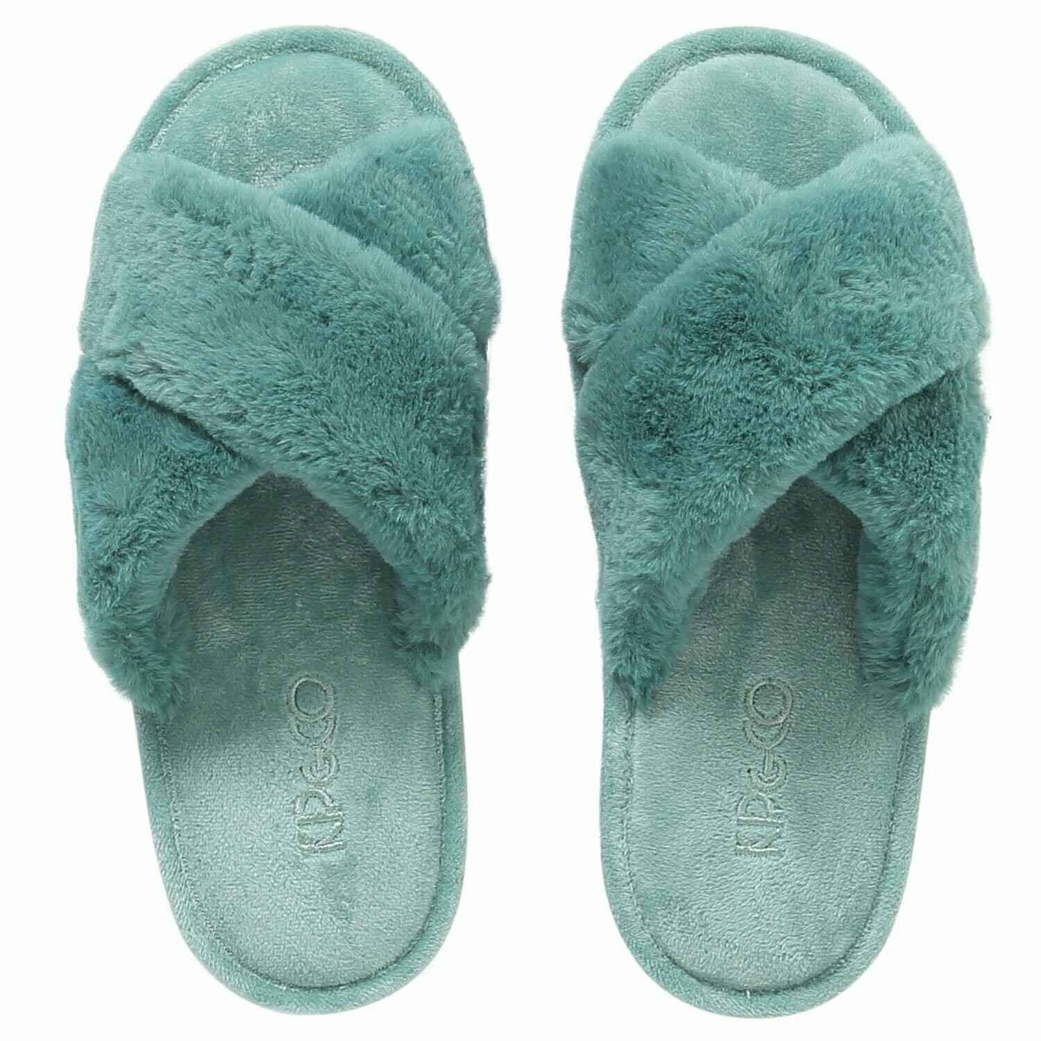 Adult Slippers - Jade Green - Size 35/36