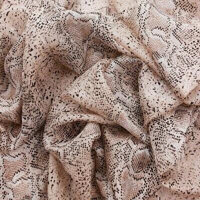Boa Reptile Hand Printed Large Scarf - 100% Silk
