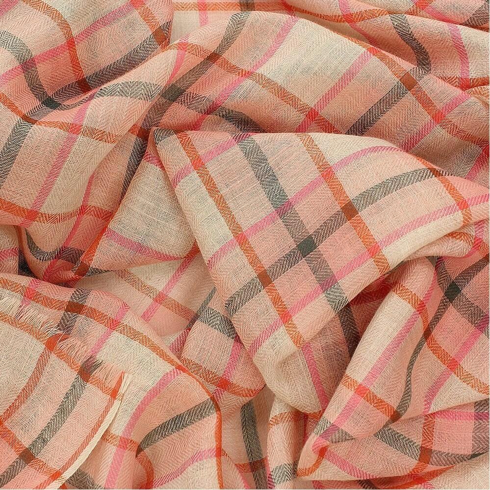 Cumberland Check Printed Scarf - Merino Wool