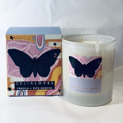 Soy Candle - Limited Edition - Freesia + Ripe Berries - 80hrs