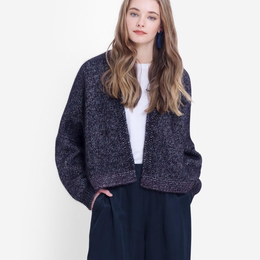 Jada Cardi Knit - Plum Multi