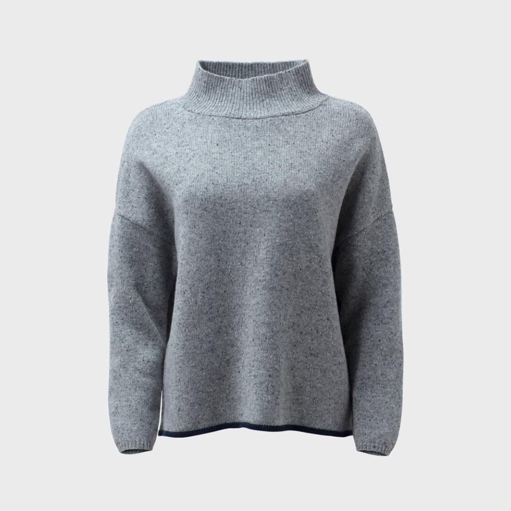 Emmah Sweater Knit - Grey/Navy