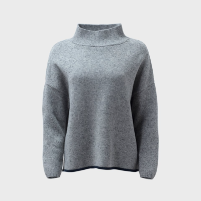 Emmah Sweater Knit - Grey/Navy