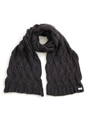 Mabel Scarf - Blackcurrant - 100% Merino Wool