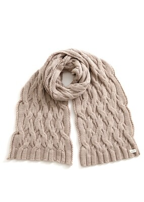 Mabel Scarf - Wheat - 100% Merino Wool