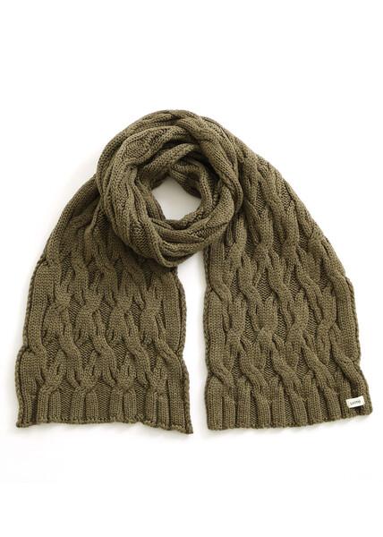 Mabel Scarf - Olive - 100% Merino Wool