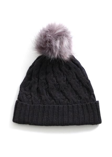 Mabel Beanie - Blackcurrant - 100% Merino Wool