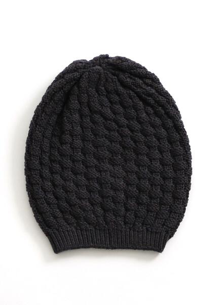 Bellamy Beanie - Blackcurrent - 100% Merino Wool
