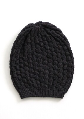 Bellamy Beanie - Blackcurrent - 100% Merino Wool