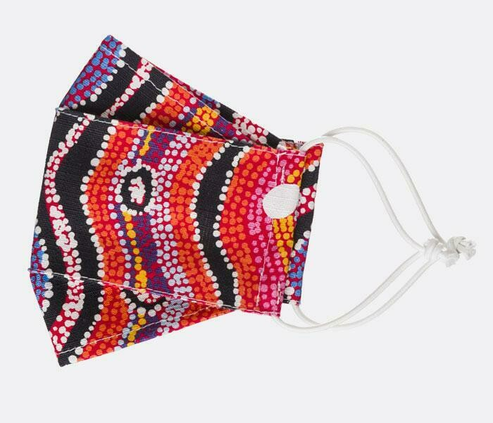 Fabric Face Masks - Aboriginal Design - Otto Sims