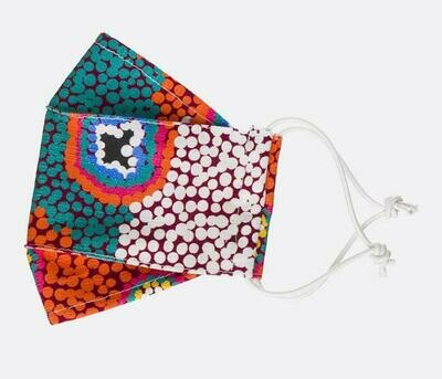 MORE STOCK COMING ~ 8th August - Fabric Face Masks - Aboriginal Design - Ruth Stewart