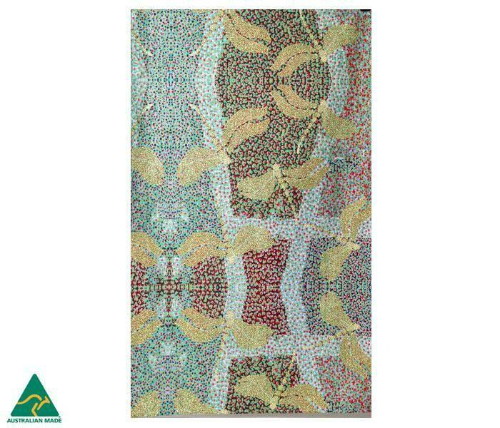 Cotton Tea Towel - Aboriginal Art -Sheryl Burchill - Sunrise