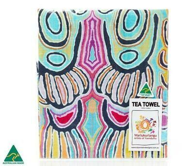 Cotton Tea Towel - Aboriginal Art - Judy Watson