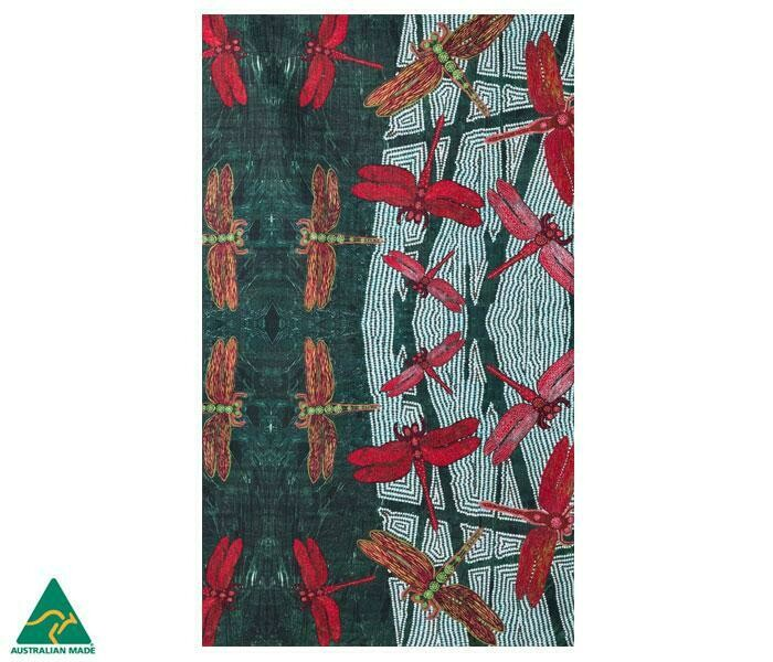 Cotton Tea Towel - Aboriginal Art -Sheryl Burchill - Rainforest