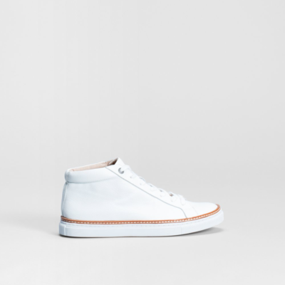 Purno High Top Sneaker - White (Size 41 left)