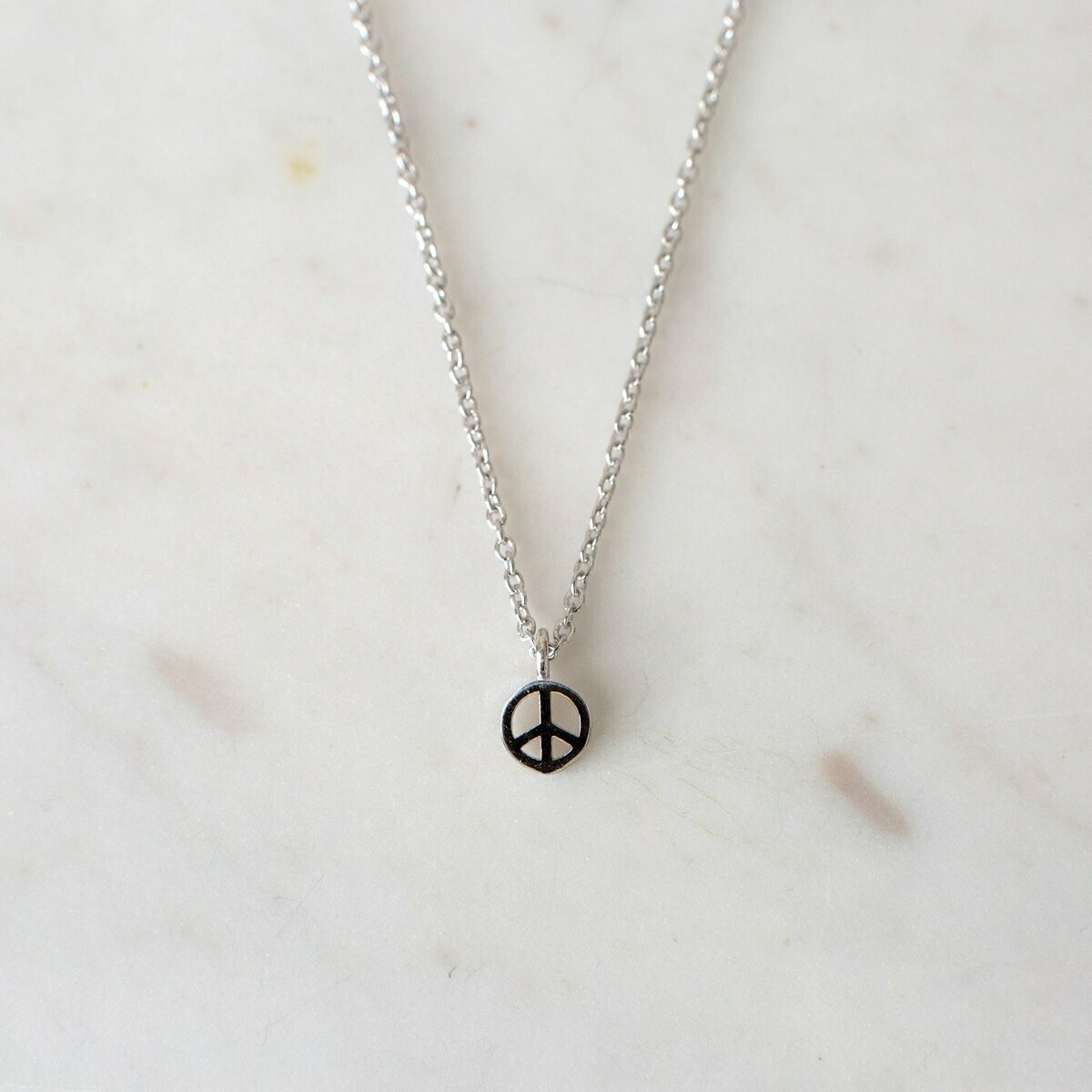 Peace Necklace - Sterling Silver
