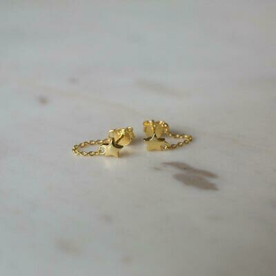 Twinkle Chain Stud Earrings - 14kt Gold Plated