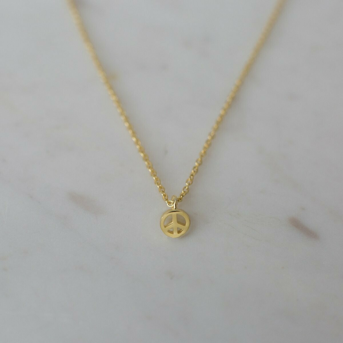Peace Necklace - 14kt Gold Plated