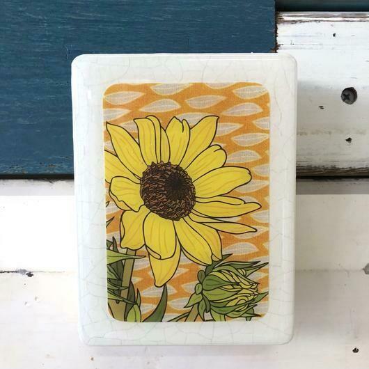 Mini Woodblock - Sunflower