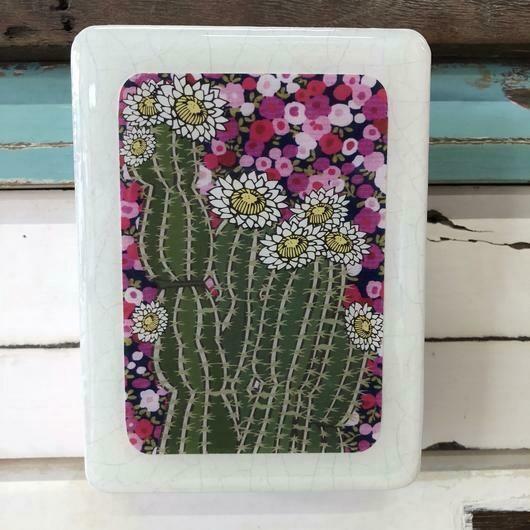 Mini Woodblock - Cactus Bloom